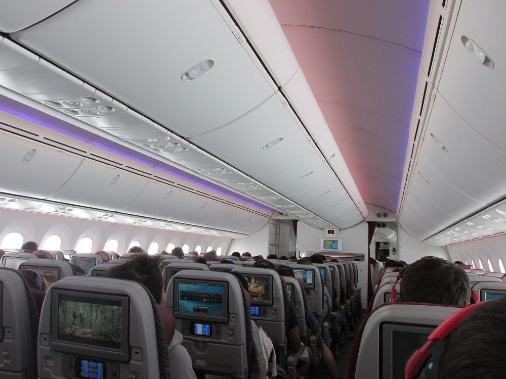 Review of qatar airways flight from doha to madrid in economy for Oficina qatar airways madrid